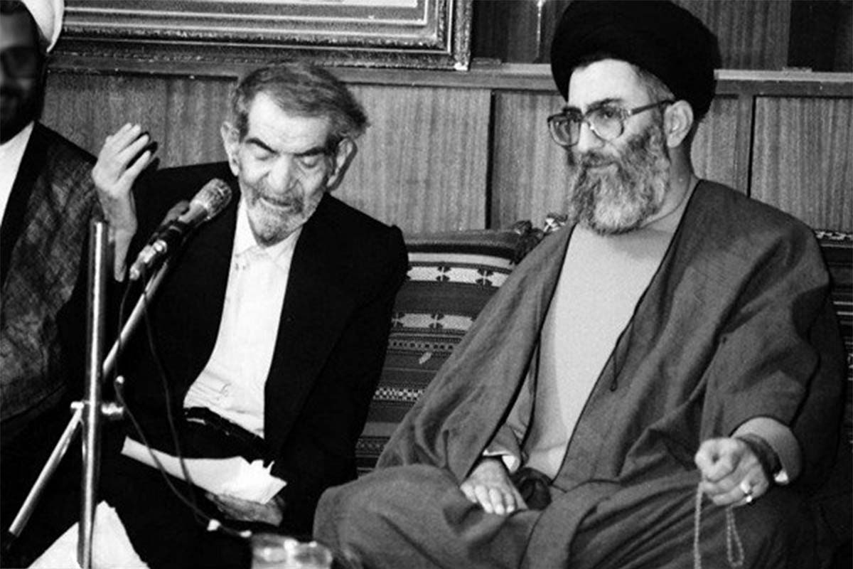 شعرخوانی استاد شهریار در حضور رهبر انقلاب در تبریز