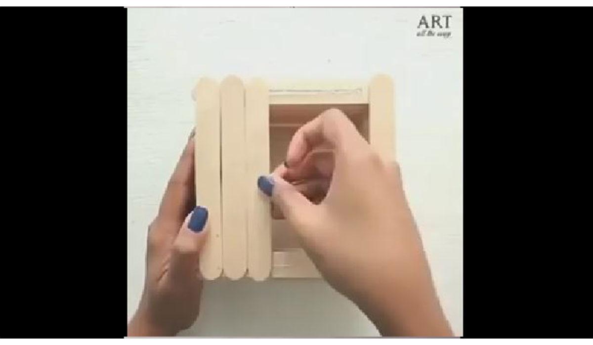 ترفند   جعبه جواهر چوب بستنی