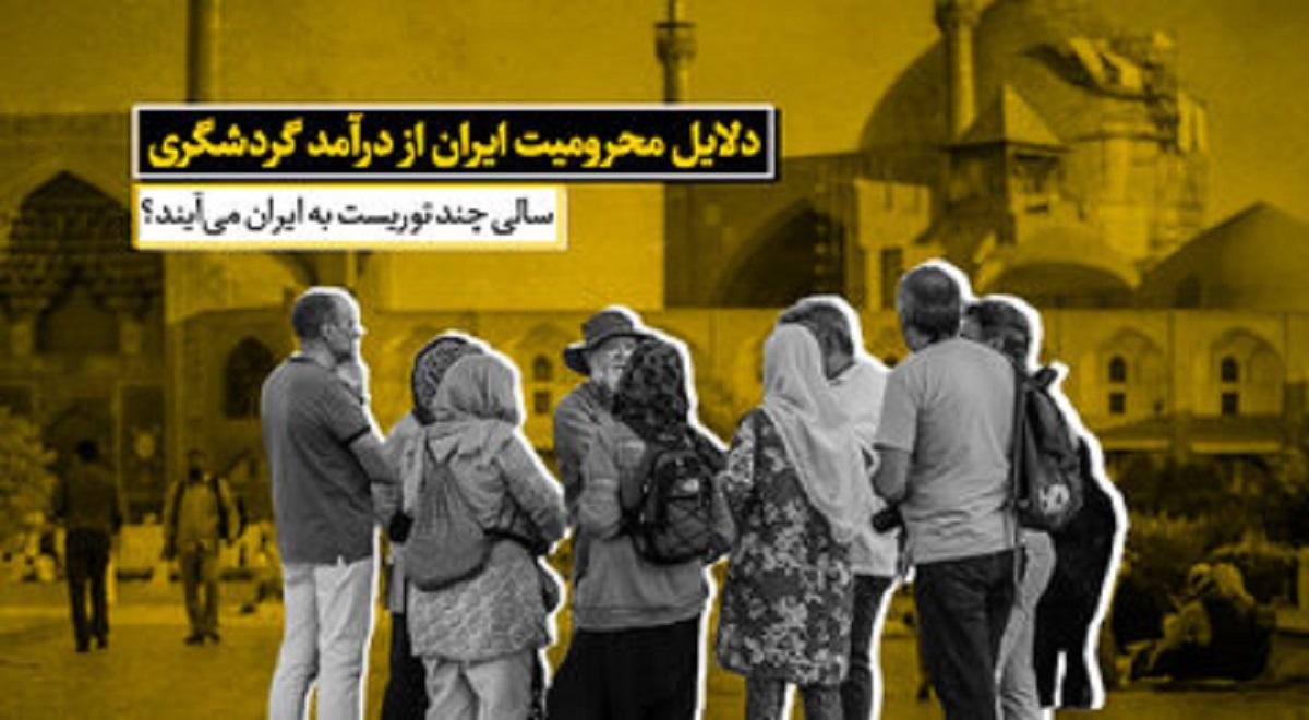 دلایل محرومیت ایران از درآمد گردشگری