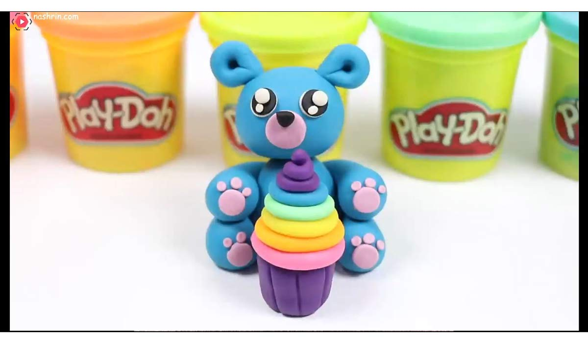 خمیربازی | ساخت عروسک خرس خمیری