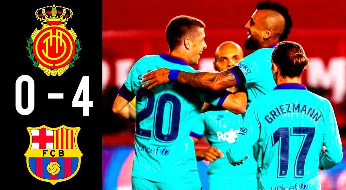 خلاصه بازی فوتبال مایورکا 0 - بارسلونا 4