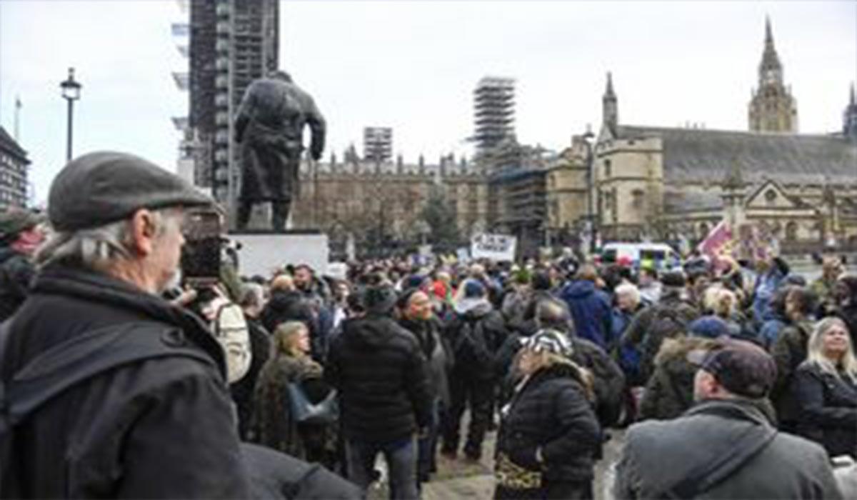 اعتراضات کرونایی انگلیسی ها
