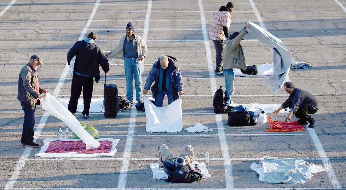 بیخانمانهای لاس وگاس وسط پارکینگ عمومی