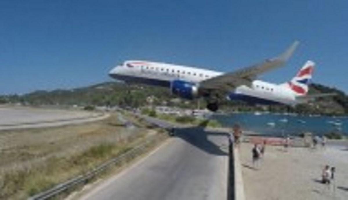 لحظات ترسناک فرود هواپیما