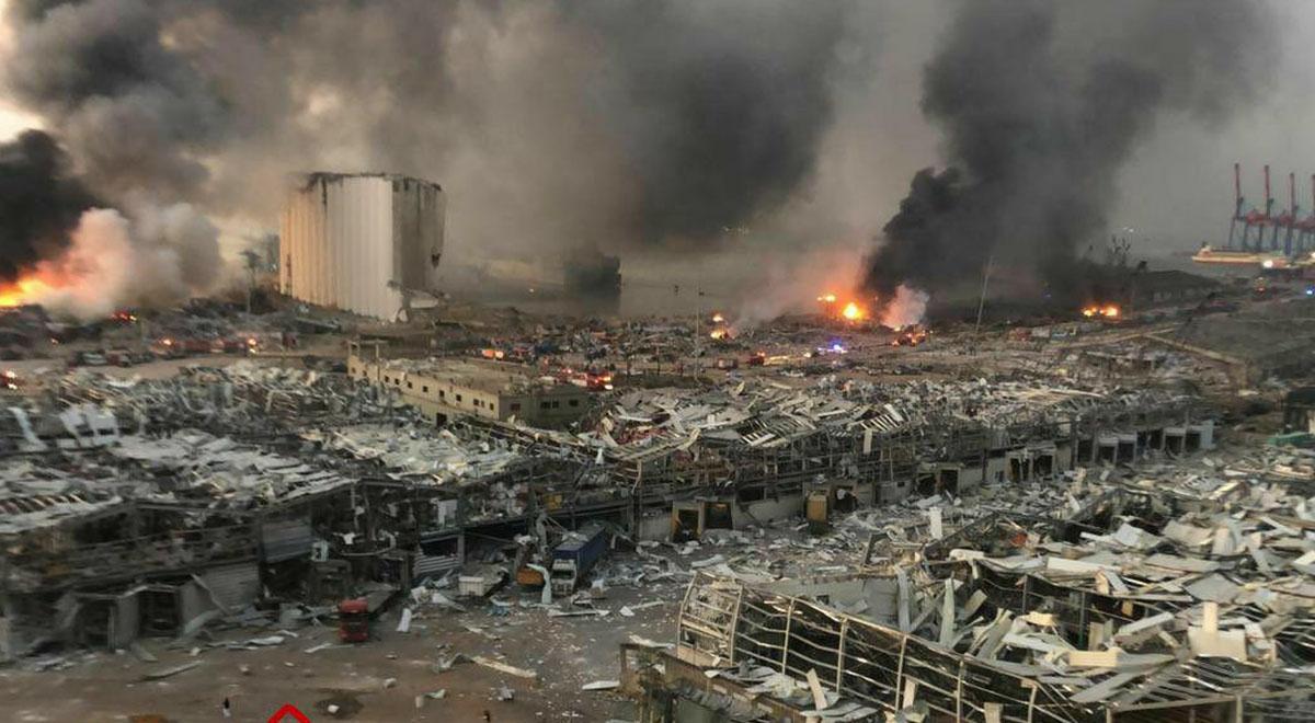 تصاویری از محل انفجار و خسارات وارده در بندر بیروت