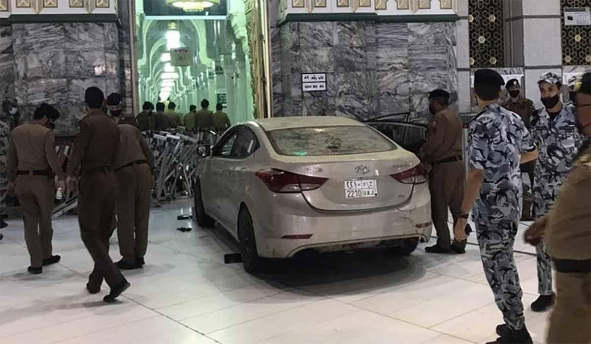 هجوم یک خودرو به مسجدالحرام!