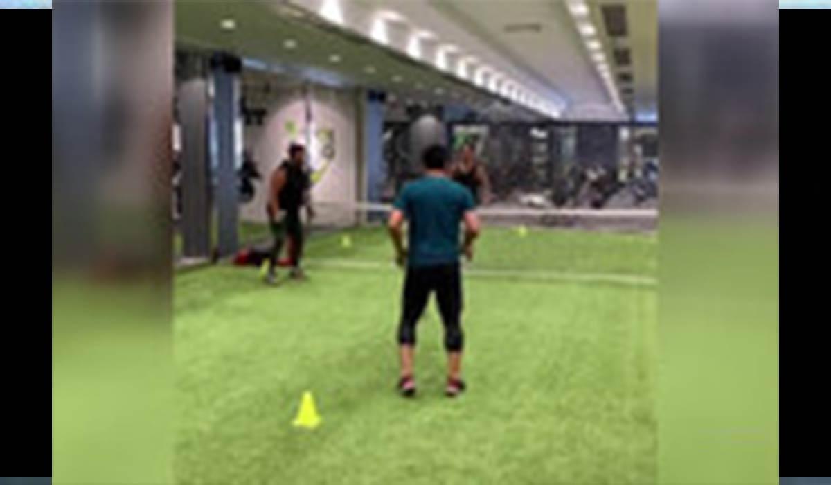 محمدرضا گلزار و رامین رضاییان در حال ورزش!