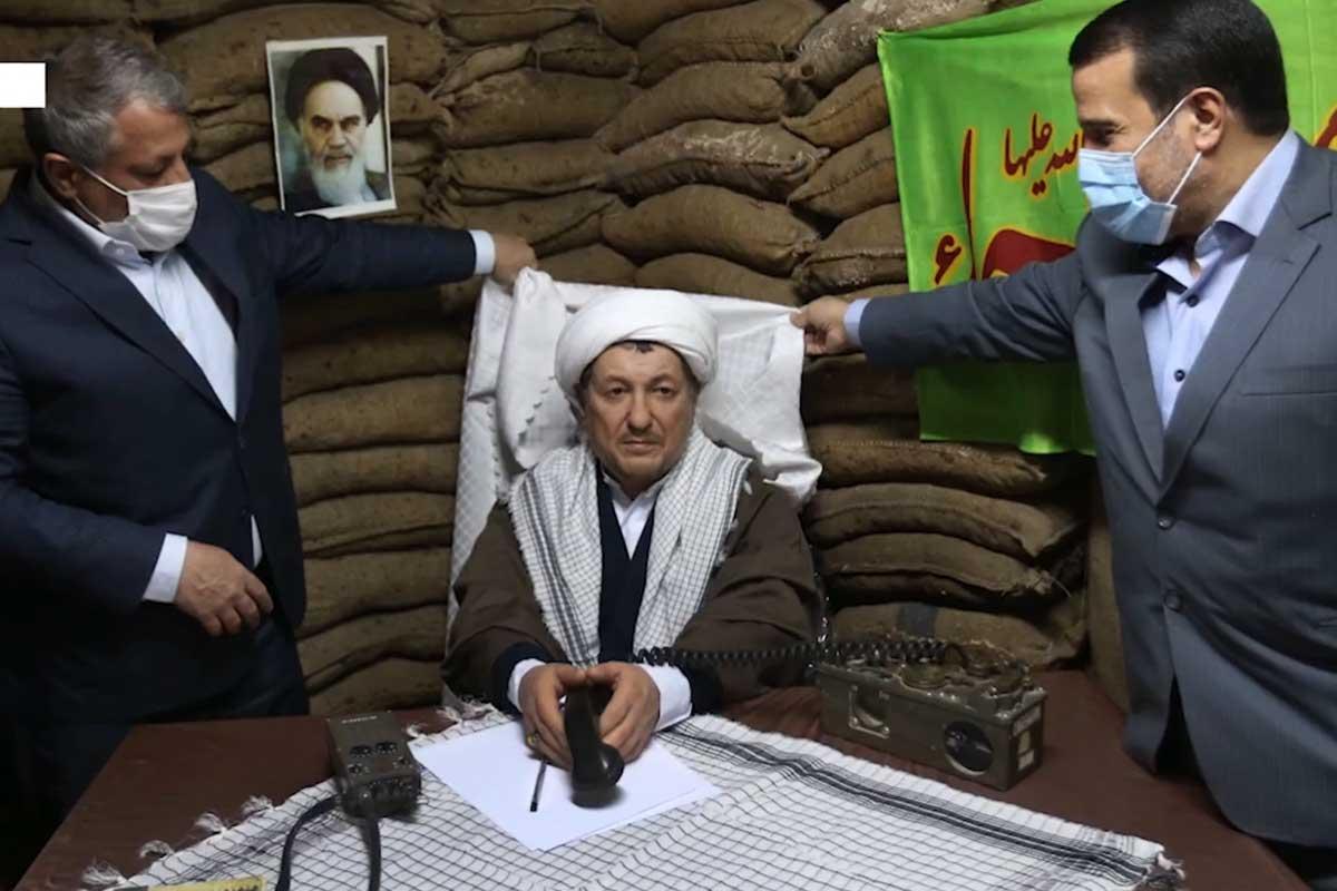 رونمایی تندیس مرحوم هاشمی رفسنجانی در موزه دفاع مقدس