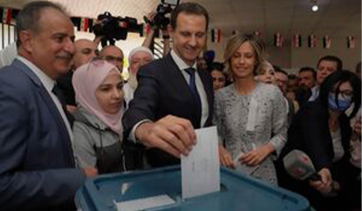 بشار اسد پای صندوق رای!