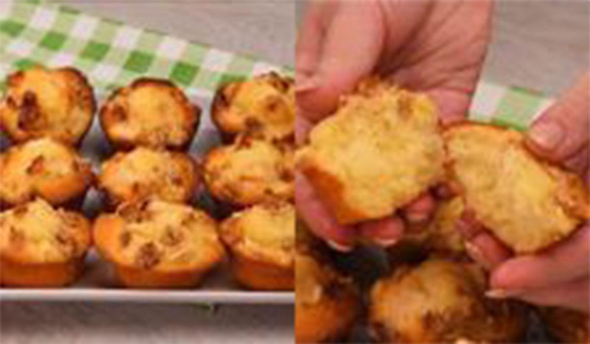 رولت|طرز تهیه مینی کیک سیب