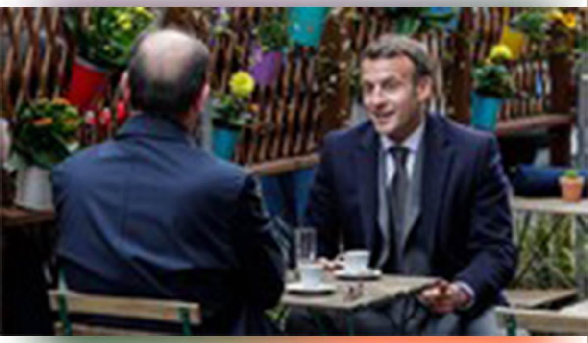 کافه گردی مکرون پس از بازگشایی رستورانها در فرانسه
