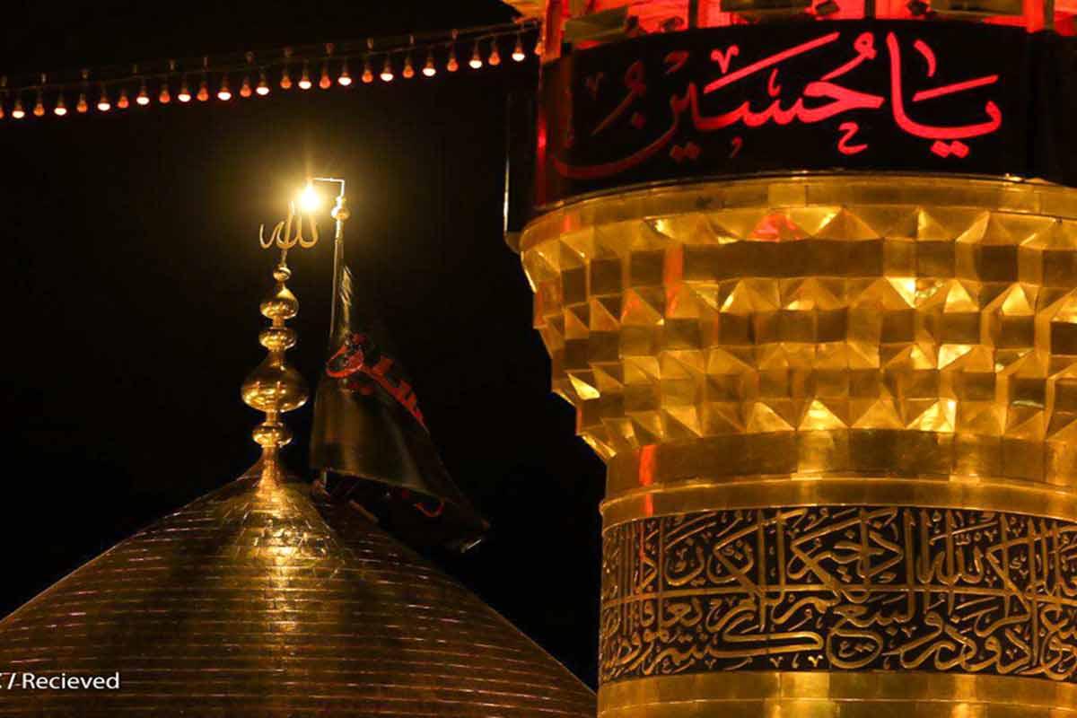 فیلم خام گنبد حرم امام حسین (ع)