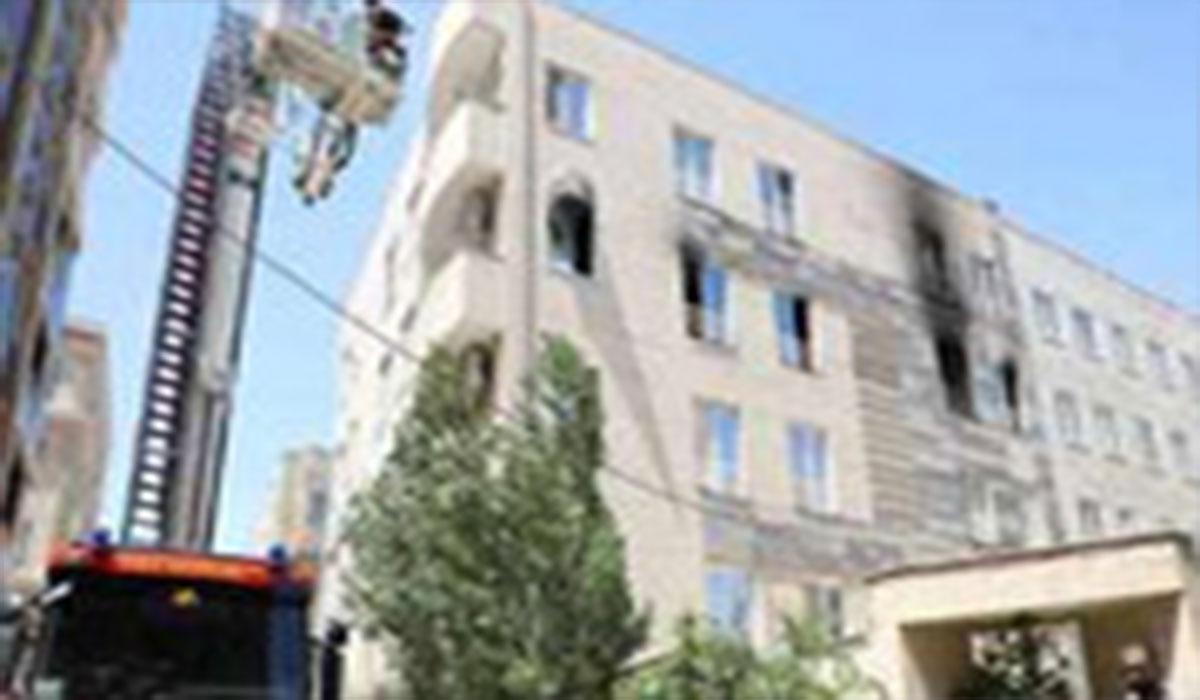 آتشسوزی یک واحد مسکونی