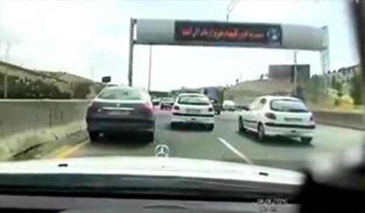 تعقیب و گریز پلیس در بزرگراه