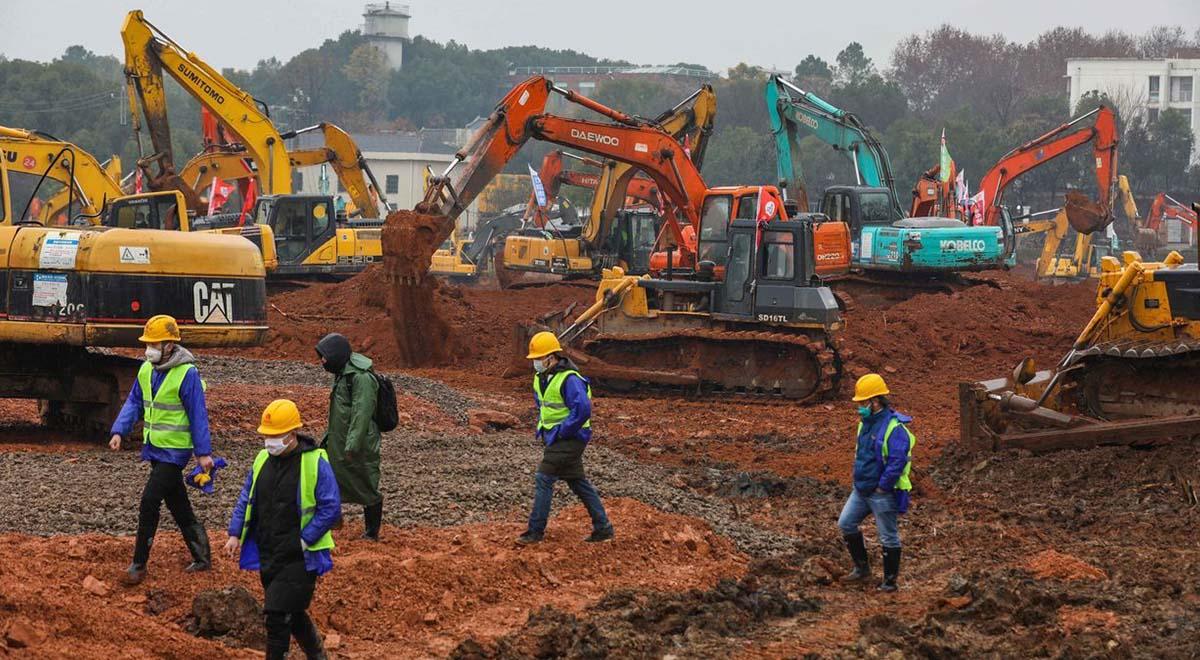 سرعت ساخت بیمارستان در چین