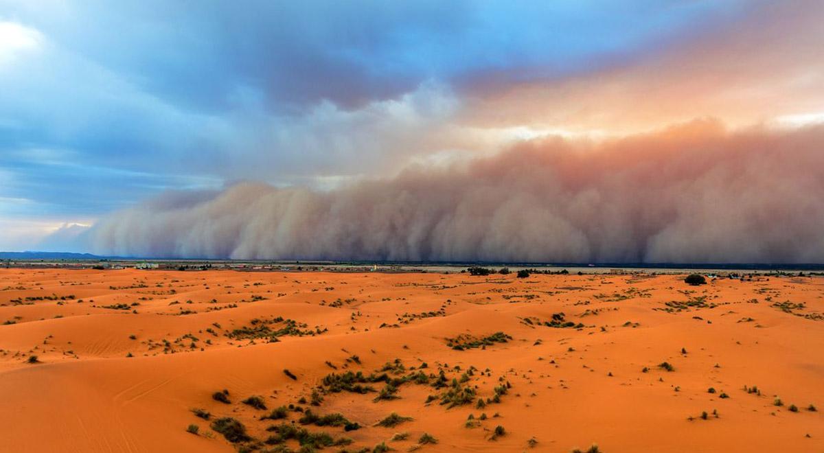 تصاویر دیدنی از طوفان شن در نوق رفسنجان