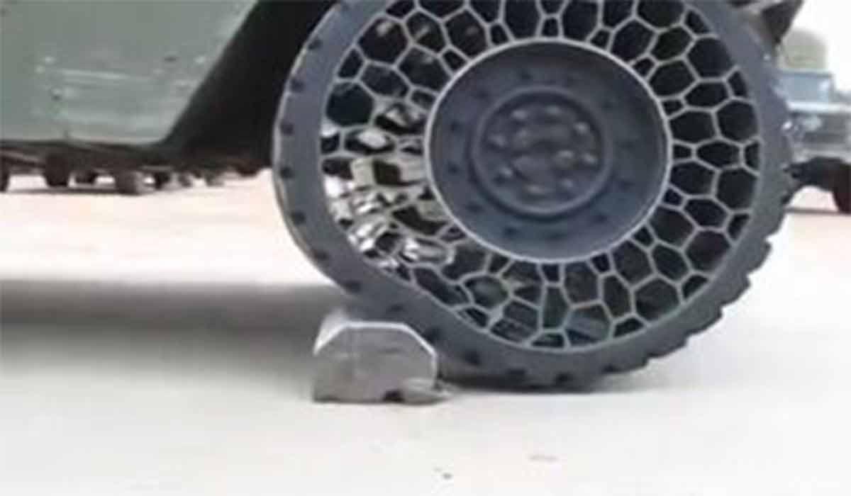 لاستیک جدید خودروهای نظامی!