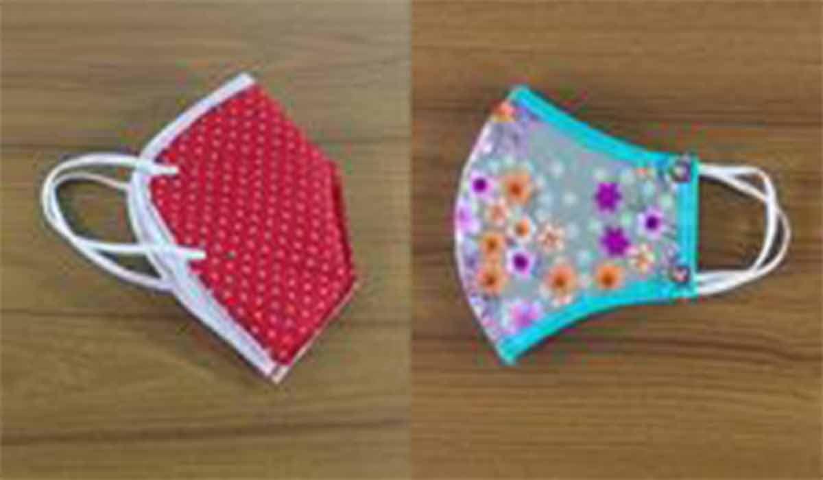 ترفند|ساخت ماسک پارچه ای گلدار