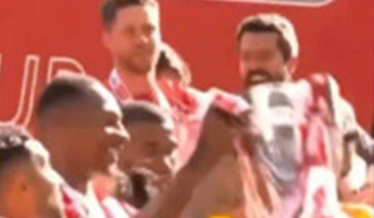 شادی جالب سامان قدوس پس از صعود به لیگ برتر