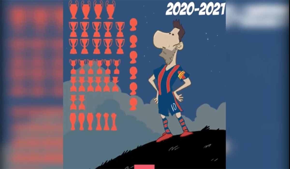 جام های لیونل مسی برای بارسا