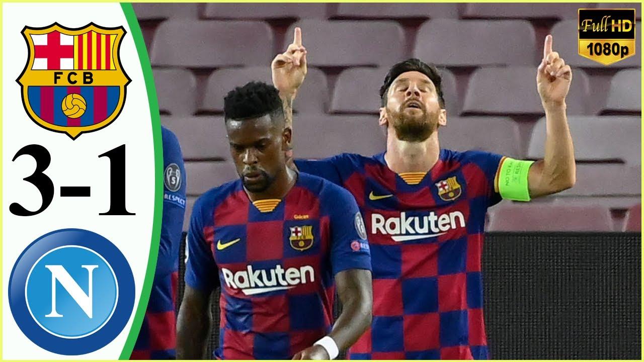 خلاصه بازی فوتبال بارسلونا 3 - ناپولی 1