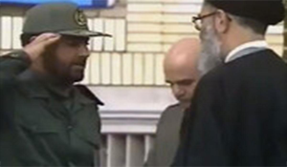 مراسم اعطای درجه سرتیپی به شهید حاج قاسم سلیمانی توسط رهبر معظم انقلاب