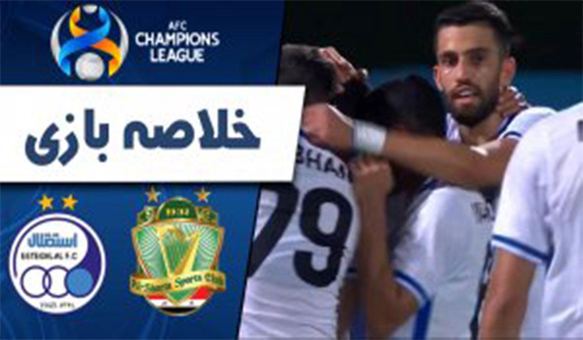 خلاصه بازی استقلال 3-0 الشرطه عراق