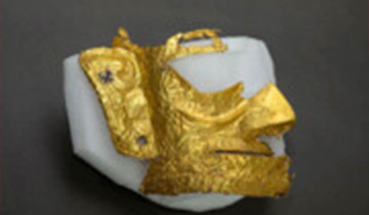 ماسک طلای 3 هزار ساله در چین