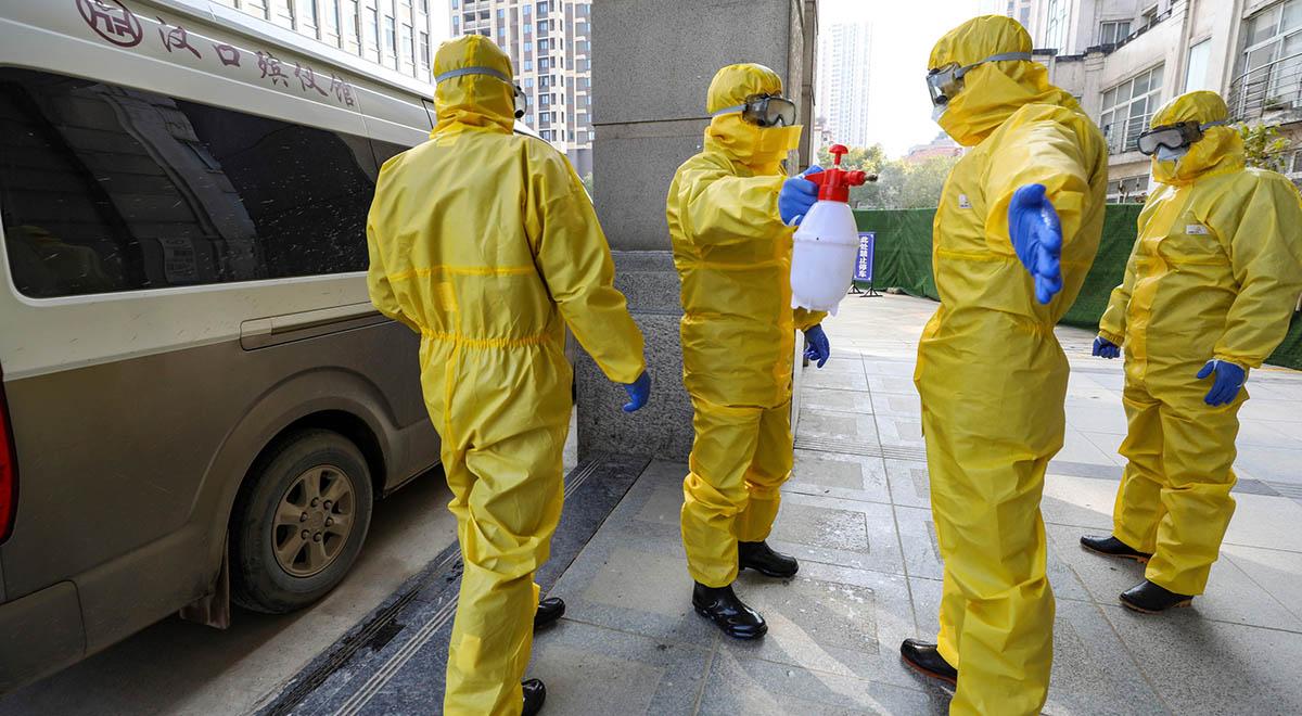 نحوه ضدعفونی کردن از ویروس کرونا شهر ووهان چین