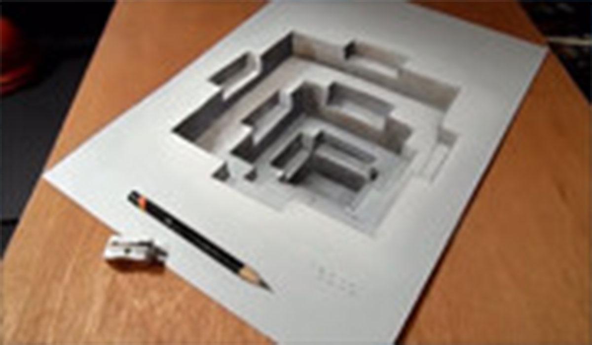 نقاشیهای زیبا سه بعدی روی کاغذ
