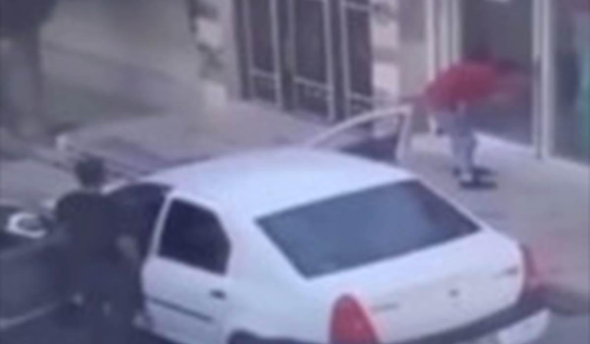 سرقت از یک مغازه با خودروی مسروقه در روز روشن