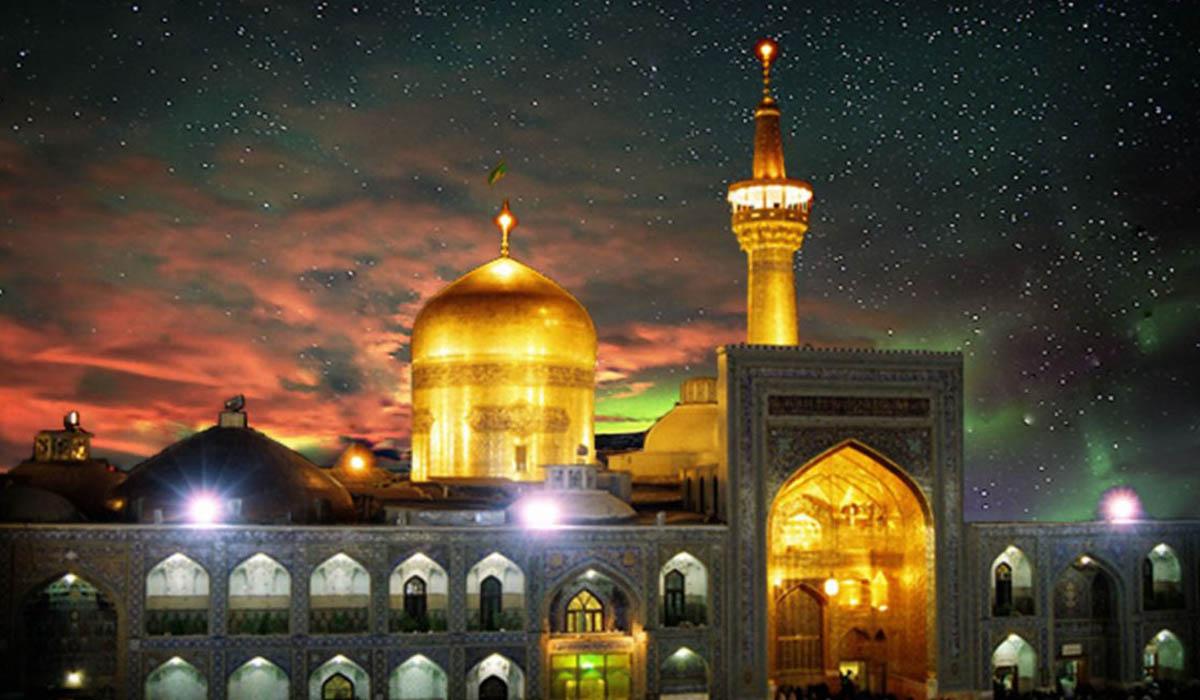 دعای توسل در شب شهادت امام کاظم علیه السلام در حرم مطهر رضوی