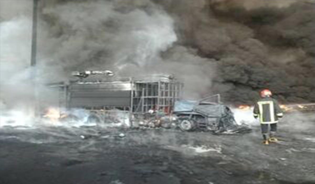 آتشسوزی قم و ماشینهای سوخته!