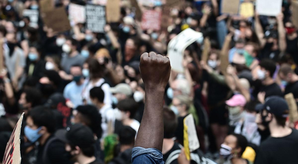 تصاویری از تجمع معترضان ضد نژادپرستی و بی عدالتی در بروکلین آمریکا