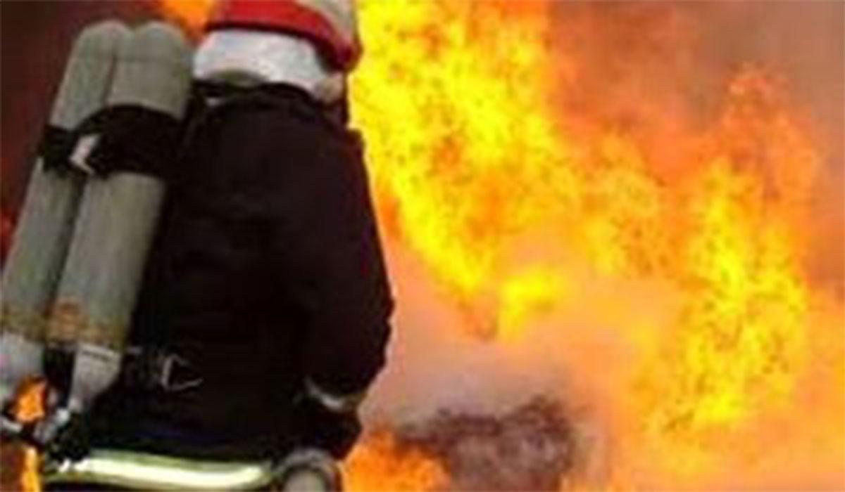 پارک صنعتی اسپانیا در آتش سوخت!