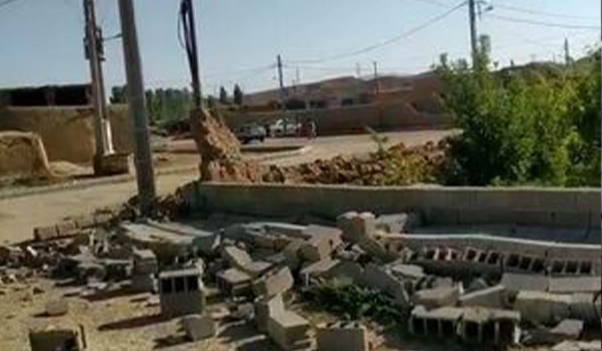 خسارات زلزله در سنخواست بجنورد!
