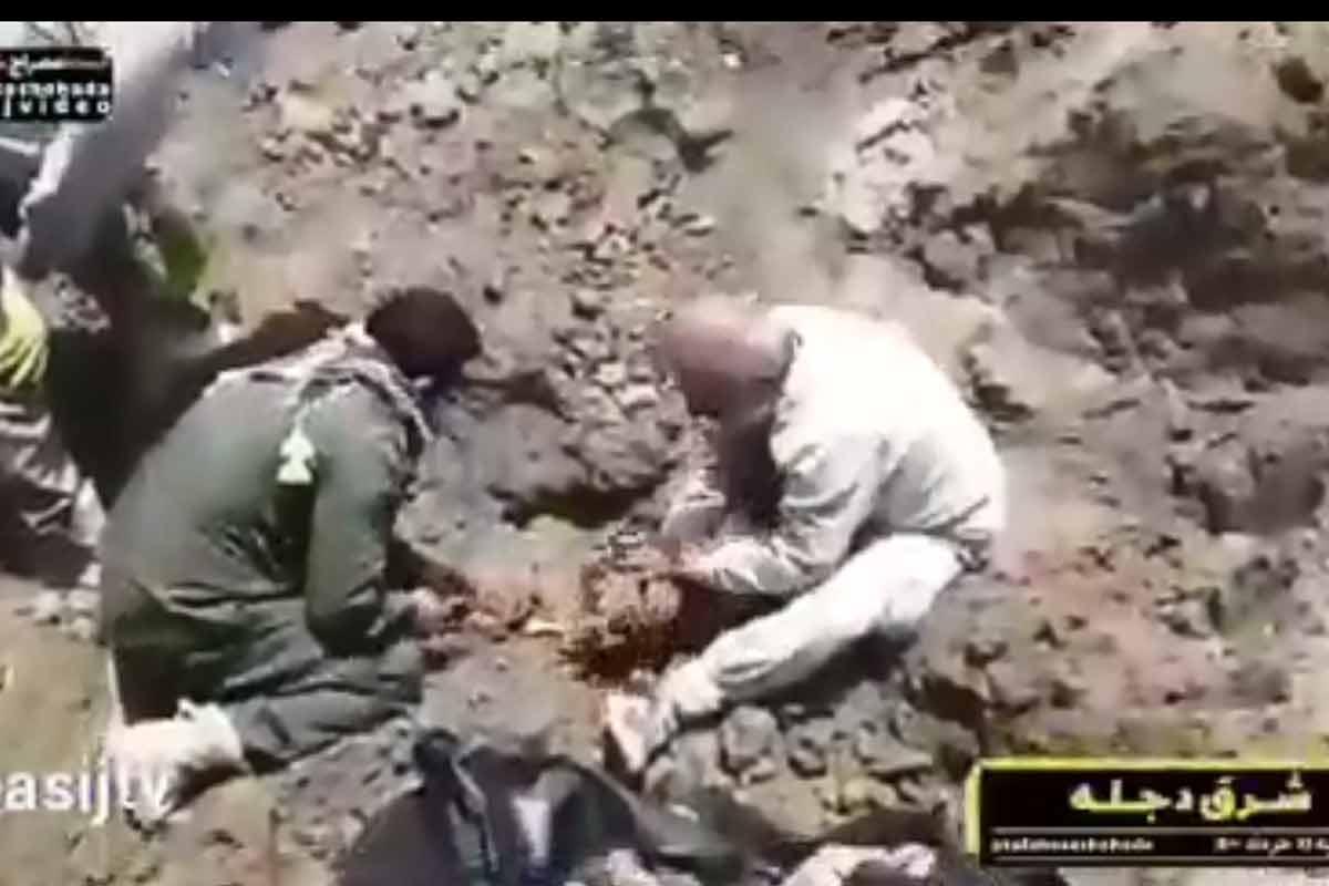 کشف پیکر شهید دفاع مقدس در شرق دجله عراق