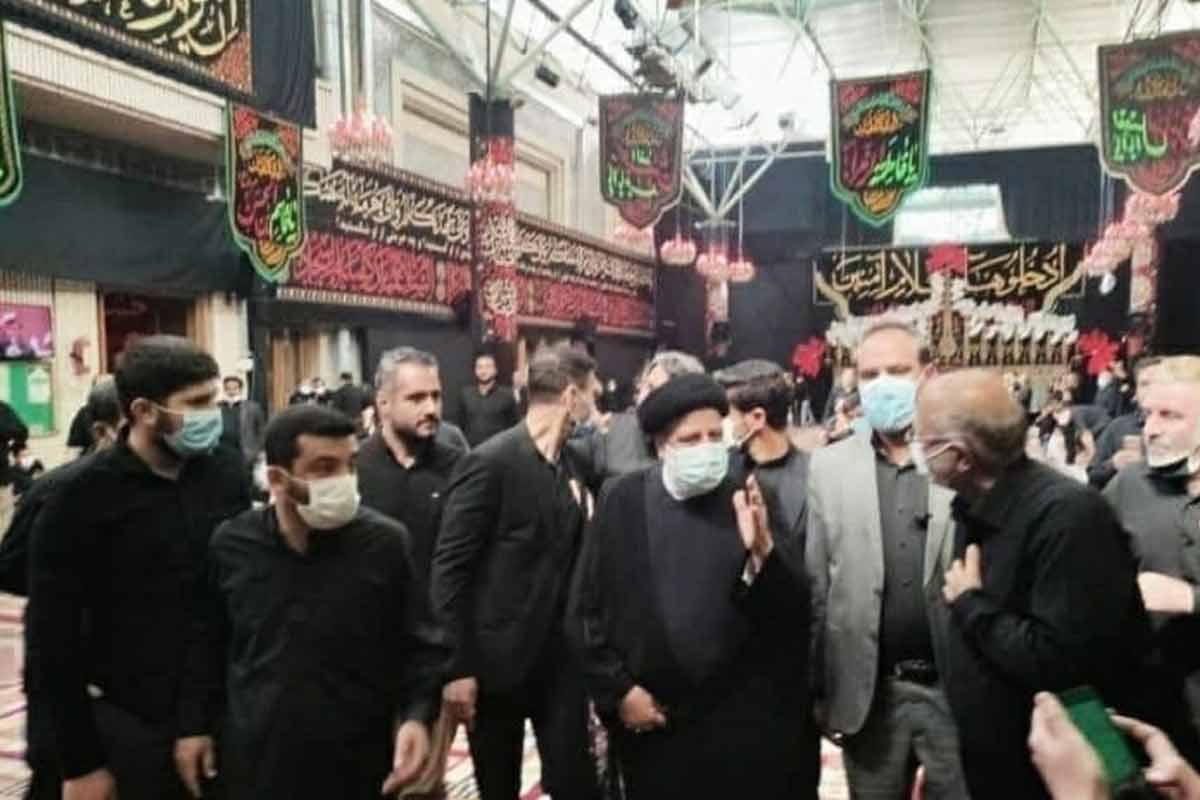 حضور رئیس جمهور در مراسم عزاداری مسجد ارک تهران