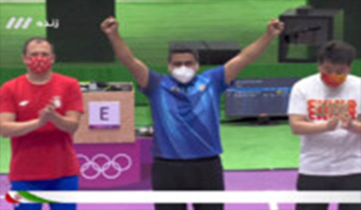 ویدیوی کسب اولین مدال تیراندازی ایران در المپیک