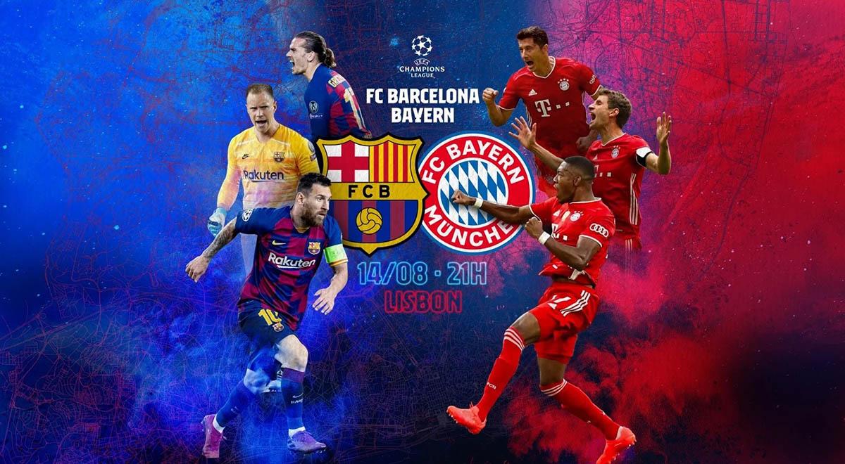 خلاصه بازی فوتبال بارسلونا 2 - بایرن مونیخ 8