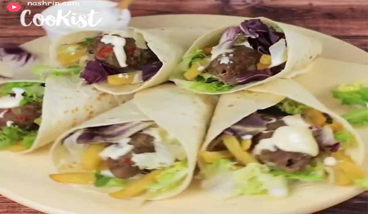 آشپزی | طرز تهیه خوراک گوشت با نان تورتیلا