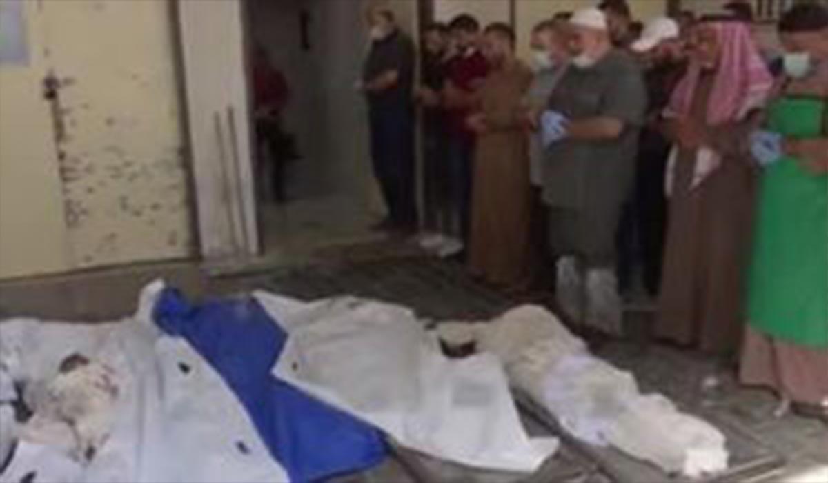 مراسم خاکسپاری ۶ شهید فلسطینی