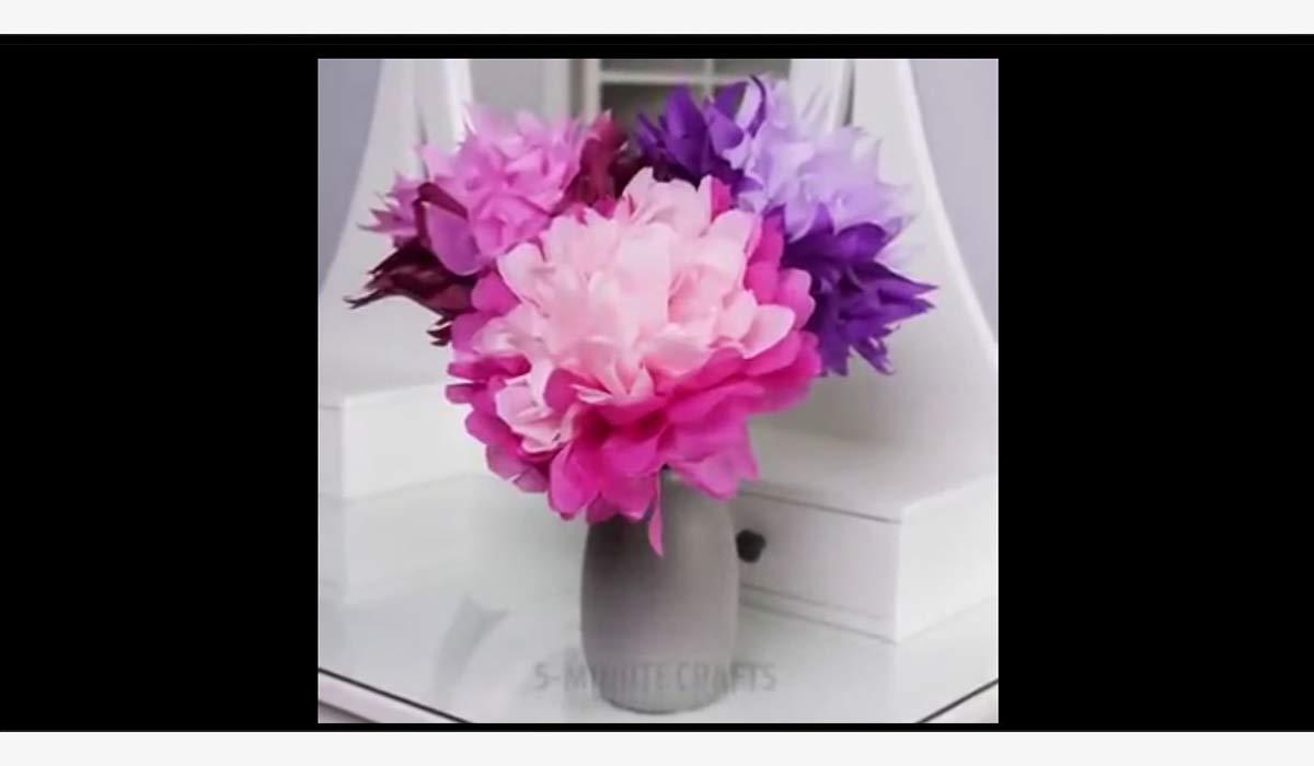 ترفند | آموزش ساخت گل های مصنوعی