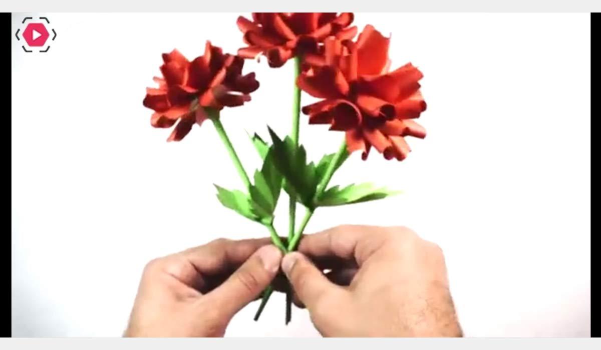 کاردستی | گل رز کاغذی