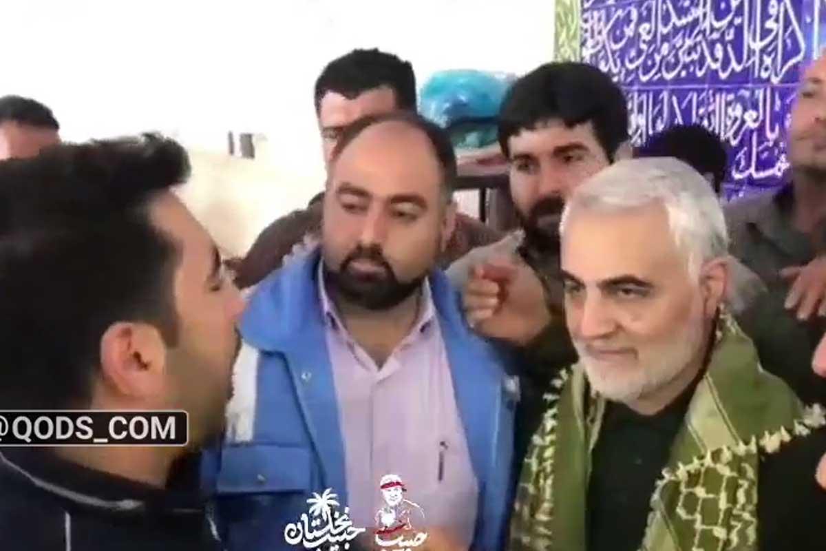 شعرخوانی جوان خوزستانی در حضور سردار سلیمانی