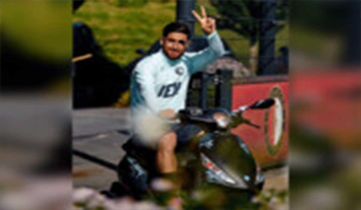 علیرضا جهانبخش در تمرین فاینورد با موتور حاضر شد!