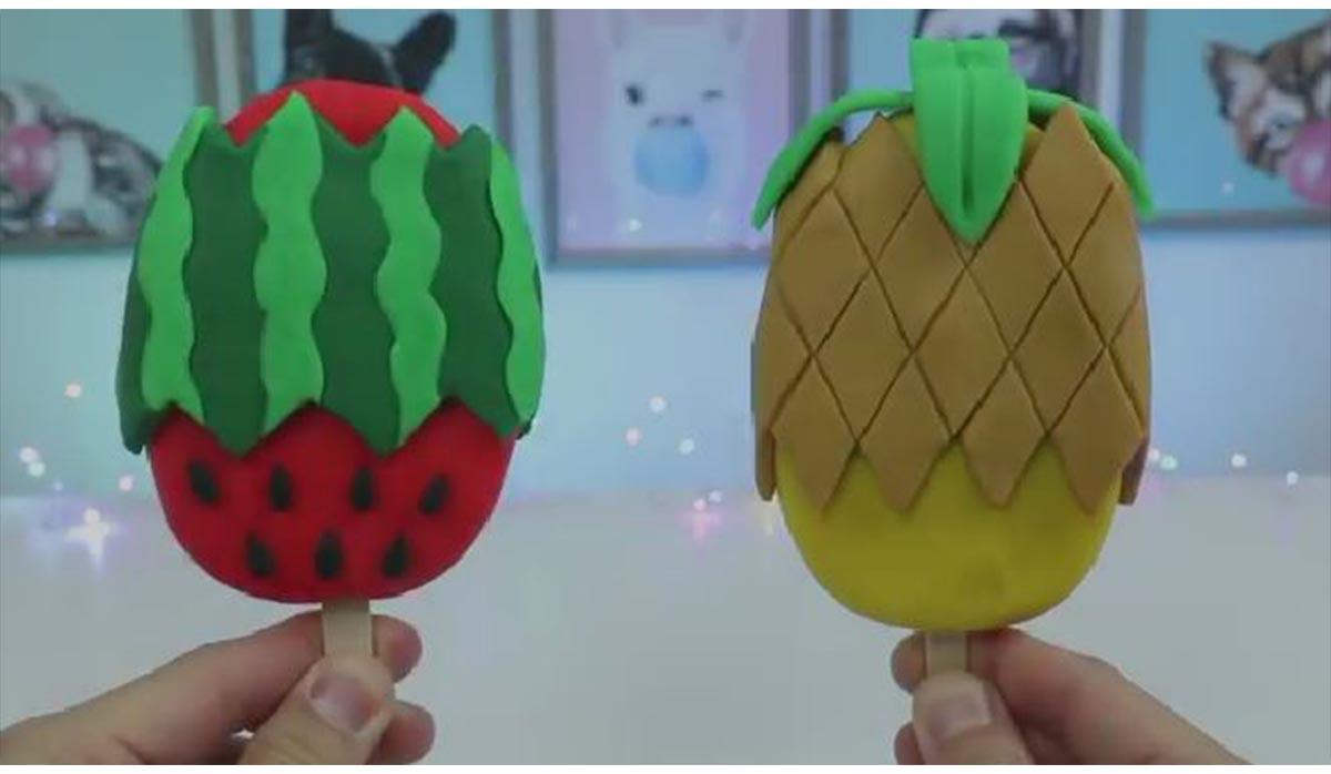 ترفند | آناناس و هندوانه کیک بستنی
