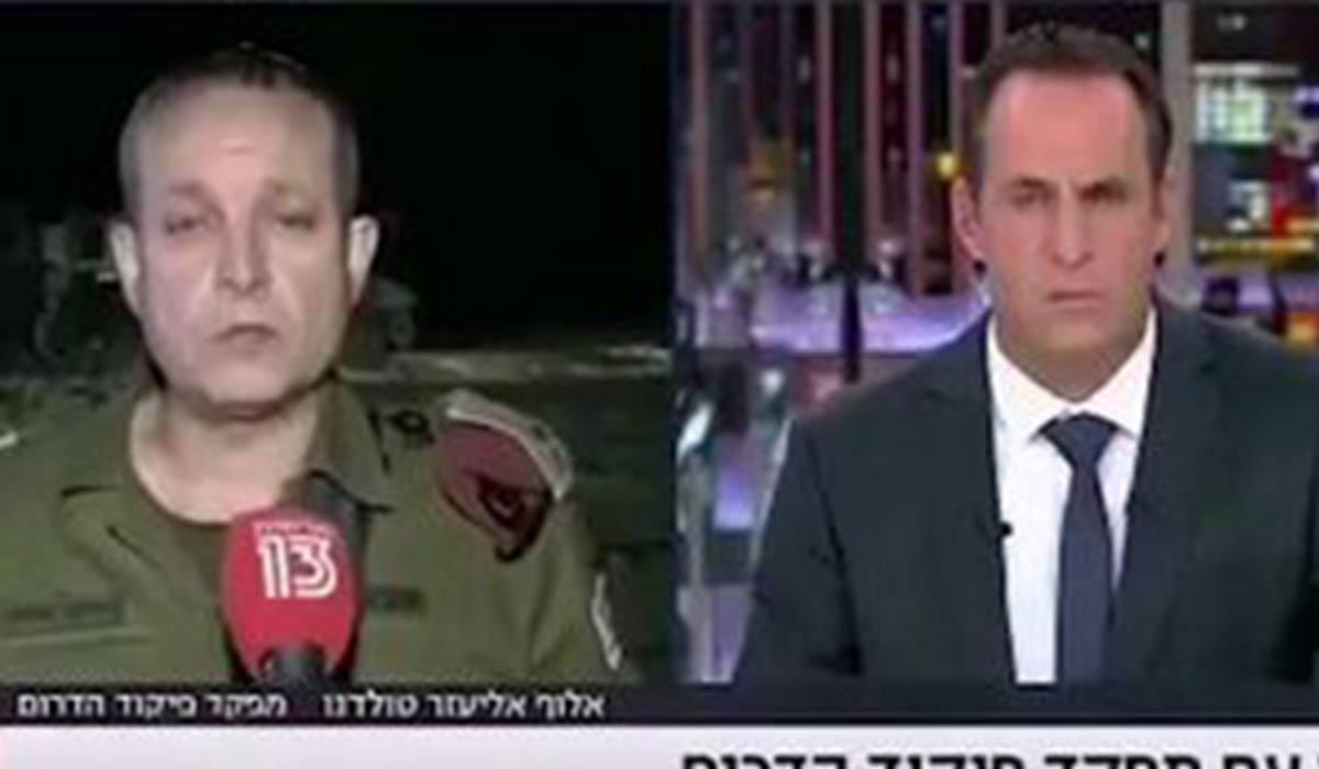 آژیر خطر در حین مصاحبه با فرمانده صهیونیست!