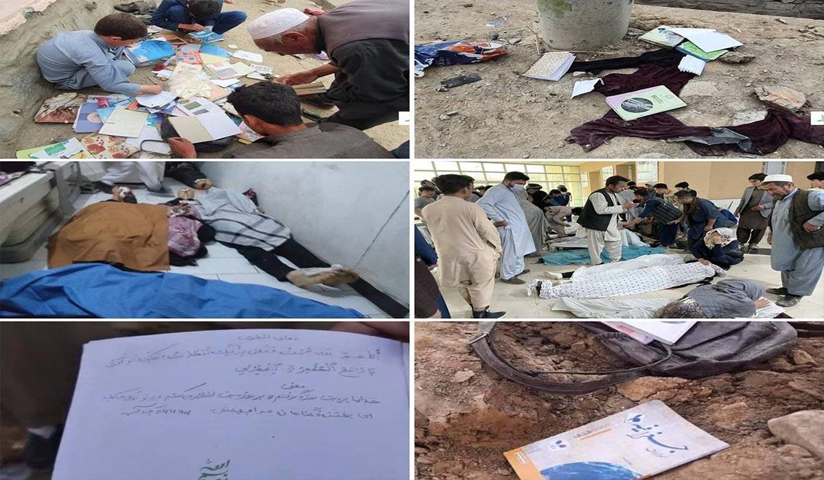 محل انفجار بمب دبیرستان کابل