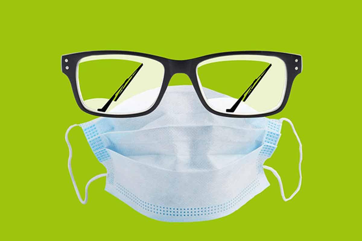ترفند ماسک با عینک